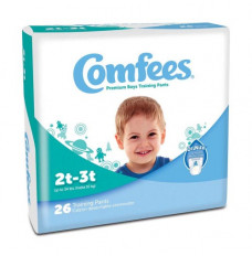 Comfees Boy Training Pants - Size 2T-3T (Case of 156)