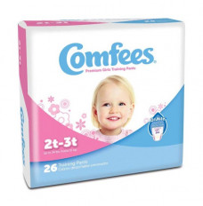Comfees Girl Training Pants - Size 2T-3T (Case of 156)