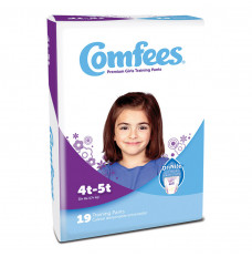 Comfees Girl Training Pants - Size 4T-5T (Case of 114)