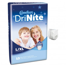 Comfees DriNite Juniors Youth Pants, Large/X-Large (Case of 52)