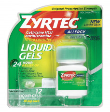 Zyrtec Allergy Liquid Gels, 10 mg Capsule, 25 Count (Each of 1)