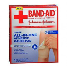 """Band-Aid First Aid Nonstick Gauze Pad, Large, 4.5"""" x 5.5"""", 4 ct. (Box of 4)"""