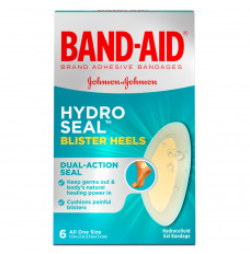 Band-Aid Hydro Seal Blister Heels, 6 ct (Box of 6)