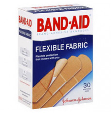 Band-Aid Flexible Fabric Adhesive Bandage [Box of 30]