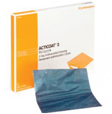 """ACTICOAT Antimicrobial Barrier Burn Dressing with Nanocrystalline Silver 4"""" x 4"""" (Box of 12)"""