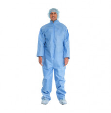 Blue Coveralls With Open Cuffs and Ankles, Universal (Case of 24)