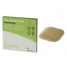 "Cardinal Health Thin Hydrocolloid Dressing, 4"" x 4"" (Box of 10)"