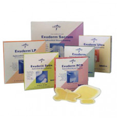 """Exuderm Regulated Colloidal Dispersion Thin Hydrocolloid Dressing 6"""" x 6"""" (Box of 5)"""