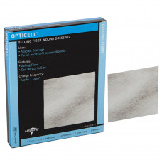 "Opticell Gelling Fiber Wound Dressing, 4.25"" x 4.25"" (Box of 5)"