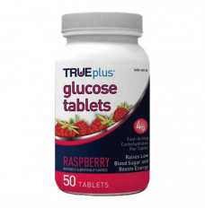 TRUEplus Glucose Tablets 50 count, Raspberry (Case of 600)