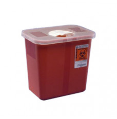 Multi-Purpose Sharps Container with Hinged Rotor Lid 3 Gallon (Each)