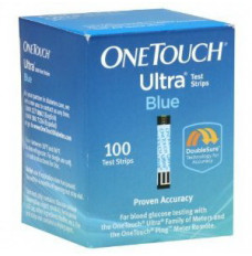 OneTouch Ultra Blue Blood Glucose Test Strip (100 count) [Box of