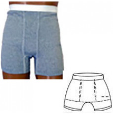 """OPTIONS Men's Brief with Built-In Barrier/Support, Gray, Dual Stoma, Large 4-5, Hips 40"""" - 42"""" (Each)"""