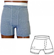 Underwear Ostomy OPTIONS Boxer Brief with Built-in Barrier/Support Gray Large 40-42 Left Stoma (Each)