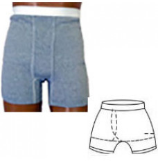 OPTIONS Men's Brief with Built-In Barrier/Support, Light Gray, Right-Side Stoma, Large 40-42 (Each)