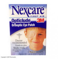 Nexcare Opticlude Eye Patch Reg 20's (Box of 20)