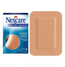 """Nexcare Absolute Waterproof Adhesive Pads, 3"""" x 4"""", 4 Count (Package of 4)"""