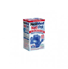 NasaFlo Neti Pot with Premixed Packets [50 Each]