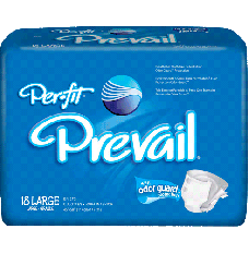 """Prevail Per-Fit Adult Brief Large 45"""" - 58"""" [Bag of 18]"""