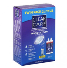 Clear Care Cleaning and Disinfection Contact Solution, 2 x 12 oz. (Pack(age) of 2)