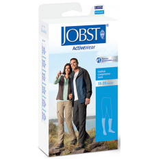 JOBST ActiveWear Knee-High Moderate Compression Socks X-Large, White (Each)