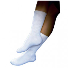 SensiFoot Knee-High Mild Compression Diabetic Sock, Small, White (Each of 1)