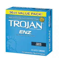 Trojan ENZ Lubricated Condom (36 Count) (Box of 36)