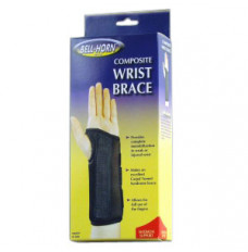 "Bell-Horn Right Composite Wrist Brace, Small 5-1/2"" - 6-1/2"" Wrist Circumference, Black (Each of 1)"