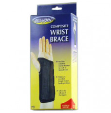 "Bell-Horn Left Composite Wrist Brace, Small 5-1/2"" - 6-1/2"" Wrist Circumference, Black (Each of 1)"