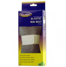 "Bell-Horn Male Rib Belt Universal, 28"" - 50'' Rib, White (Each of 1)"