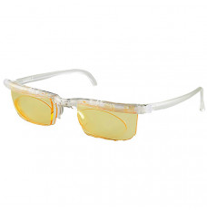 Computer Eyewear with Natural Frame and Yellow Lenses (Each of 1)