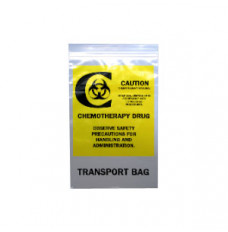 """Chemo Transfer Bag, 9"""" x 6"""", Clear (Case of 1000)"""