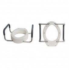 Toilet Seat Riser with Removable Arms, Elongated (Each of 1)