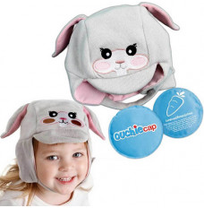 Cool Gel N Cap Kids Ice and Heat Packs with First Aid Cap, Tulip The Bunny (Each of 1)