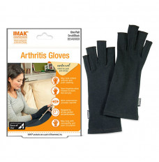 IMAK Compression Arthritis Gloves - Black, Small (Package of 2)
