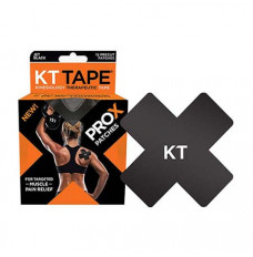 "KT Tape Pro X, 4"" x 4"", Black (Box of 15)"
