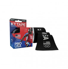 "KT Synthetic Tape Team USA Pro, Black, 20 2"" x 10"" Strips (Box of 20)"