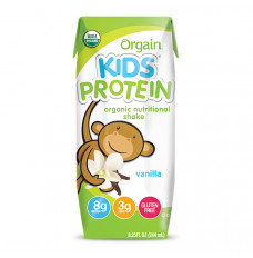 Orgain Kids Protein Nutritional Shake, Vanilla, 8.25 fl oz (Case of 12)