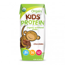 Orgain Kids Protein Nutritional Shake, Chocolate, 8.25 fl oz (Case of 12)