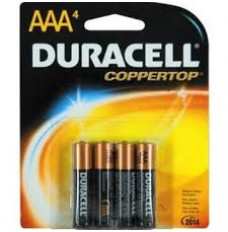 Duracell Alkaline AAA Battery (4 count) 1.5v For External Infusion Pump (Package of 4)