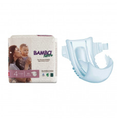 Bambo Nature Disposable Diapers, Size 4,  15-40 lbs. (Pack(age) of 30)