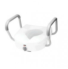 """E-Z Lock Raised Toilet Seat with Armrests 5"""" (Case of 2)"""