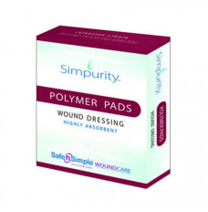 "Simpurity High Absorbent Polymer Pad, 8"" x 10"" (Case of 80)"