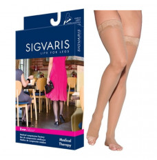 782N Style Sheer Thigh, 20-30mmHg, Open Toe, Small, Long, Natural (Each of 1)