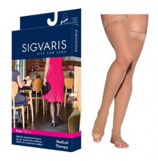 783N Style Sheer Thigh, 30-40mmHg, Open Toe, Medium, Short, Suntan (Each of 1)