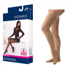 841N Style Soft Opaque Thigh, 15-20mmHg, Women's, Small, Long, Pecan (Each of 1)