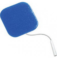 """S-Series Square Silver with Reusable Blue Gel Electrode 2"""" x 2"""" (Package of 4)"""