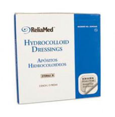 """Cardinal Health Essentials Sterile Latex-Free Hydrocolloid Dressing with Film Back and Beveled Edge 6"""" x 6"""" (Box of 5)"""