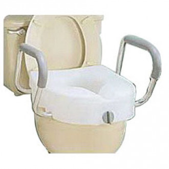 E-Z Lock Raised Toilet Seat With Arms (Each)
